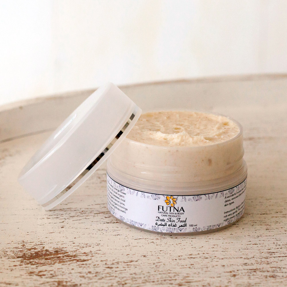 Date Skin Food Cream face body anti oxidant skin issues treatment local dates ingredients