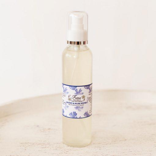 Honey & musk water skin freshener cleanser spray perfume hair after shave jordan amman natural organic cruelty free