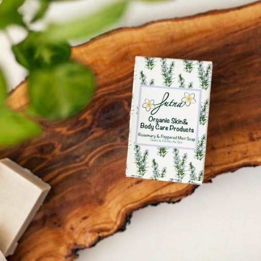 Rosemary peppered mint soap handmade high quality ingredients organic jordan amman middle east body cleanser
