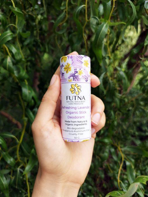 refreshing lavender organic stick deodorant