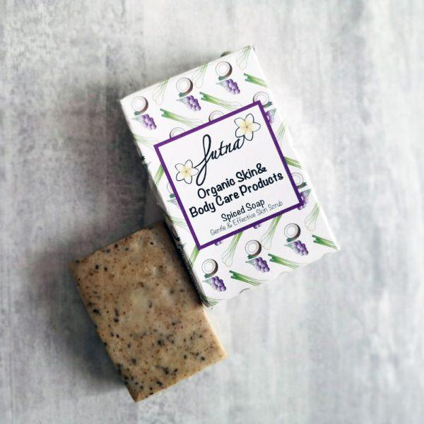 spiced soap gentle scrub organic natural high quality skin