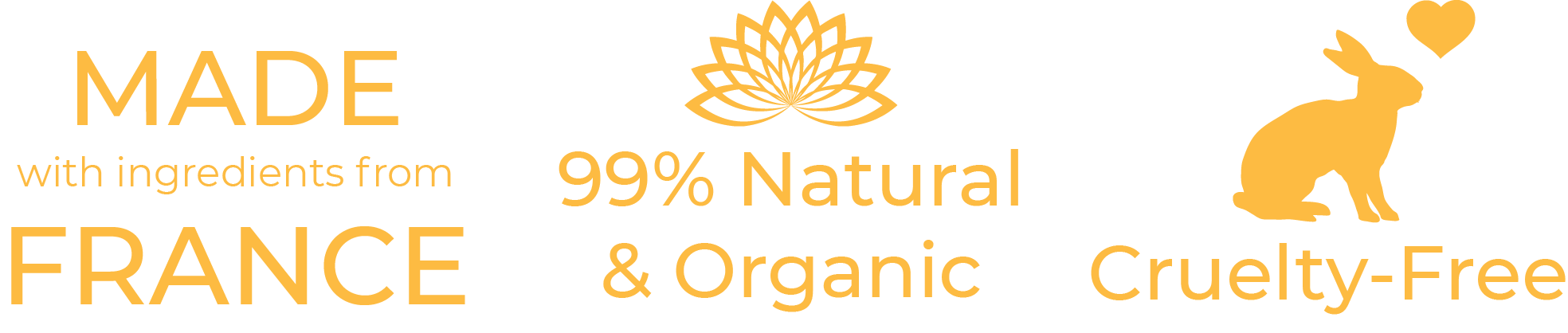 cruelty free love animals vegan made in france organic natural ingredients