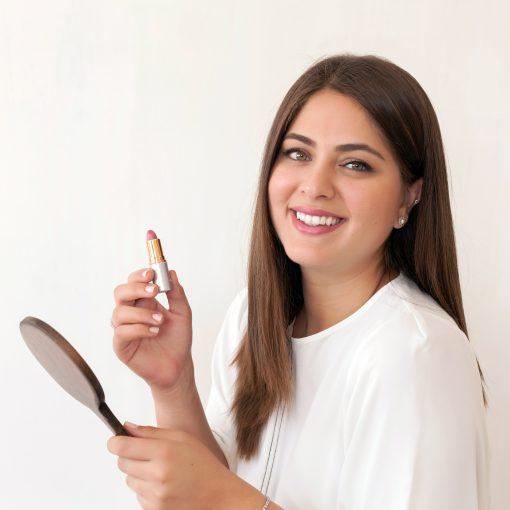 woman futna lipstick organic natural makeup lipbalm hydration